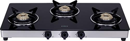 Elica Vetro Glass Top 3 Burner Gas Stove (703 CT VETRO SS)