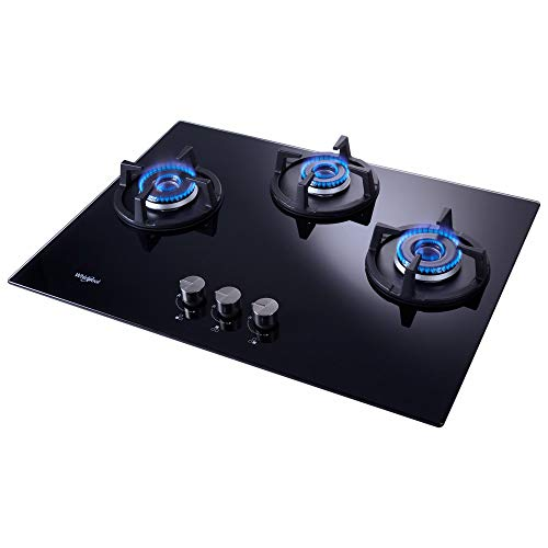 Whirlpool Hob 3 Burner Auto Ignition Gas Stove (Elite Hybrid 703 MT Brass Gas Hob)
