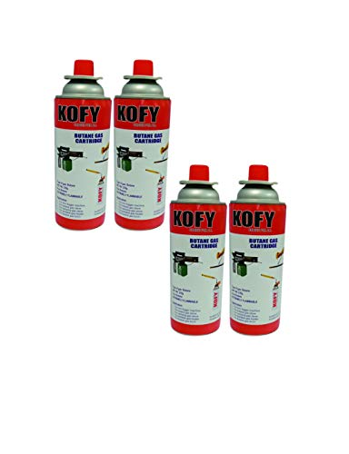 Kofy Pure Butane Fuel Can For Soldering/Camping/Flame Torch/Stove Gas can 500 Ml (4)