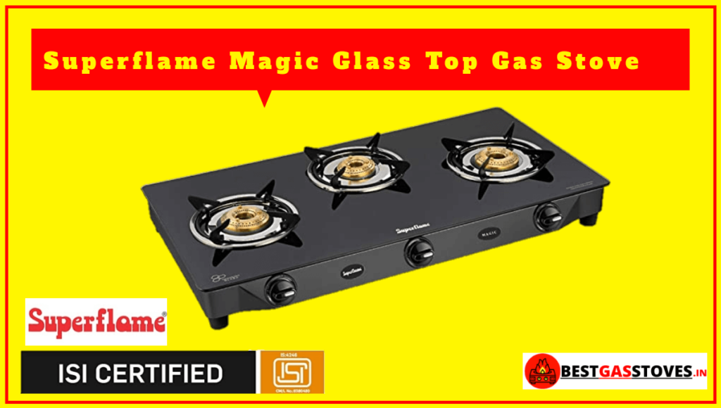 Superflame Magic Glass Top 3 Burner Gas Stove